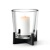 Pillar Candle Holder, Large w/ Candle (Not Included)