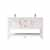 Vinnova Bath Vanity 60'' White No Mirror Display