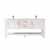 Vinnova Bath Vanity 72'' White No Mirror Display