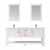 Vinnova Bath Vanity 72'' White Display