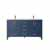 Vinnova Bath Vanity 60'' Royal Blue No Mirror Display