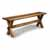 Trestle Bench - Angle View 1