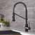 Matte Black/Black Stainless Steel - Faucet Close Up 4