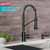 Matte Black/Black Stainless Steel - Faucet Close Up 1
