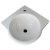 "Alfi brand White 15"" Corner Wall Mounted Porcelain Round Bowl Bathroom Sink, 15-1/4"" W x 15-1/4"" D x 6-1/4"" H"