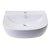 """20"""" White D-Bowl Bath Sink View - 3"""