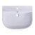 """24"""" White D-Bowl Bath Sink"""
