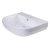 """24"""" White D-Bowl Bath Sink View - 4"""