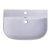 """28"""" White D-Bowl Bath Sink View - 1"""