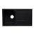 "Alfi brand Black 34"" Single Bowl Granite Composite Kitchen Sink with Drainboard, 33-7/8"" W x 19-3/4"" D x 9-1/16"" H"