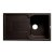 """ALFI brand 34"""" Single Bowl Granite Composite Kitchen Sink with Drainboard in Chocolate, 33-7/8"""" W x 19-3/4"""" D x 9-1/16"""" H"""