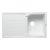 "Alfi brand White 34"" Single Bowl Granite Composite Kitchen Sink with Drainboard, 33-7/8"" W x 19-3/4"" D x 9-1/16"" H"
