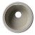 "Alfi brand Biscuit 17"" Drop-In Round Granite Composite Kitchen Prep Sink, 17"" Diameter x 8-1/4"" H"