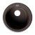 "ALFI brand 17"" Drop-In Round Granite Composite Kitchen Prep Sink in Chocolate, 17"" Diameter x 8-1/4"" H"