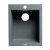 "ALFI brand 17"" Drop-In Rectangular Granite Composite Kitchen Prep Sink in Titanium, 16-1/8"" W x 19-7/8"" D x 8-1/4"" H"