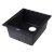 """Alfi brand Black 17"""" Undermount Rectangular Granite Composite Kitchen Prep Sink, 16-1/8"""" W x 17"""" D x 8-1/4"""" H"""