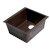"""ALFI brand 17"""" Undermount Rectangular Granite Composite Kitchen Prep Sink in Chocolate, 16-1/8"""" W x 17"""" D x 8-1/4"""" H"""