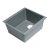 "ALFI brand 17"" Undermount Rectangular Granite Composite Kitchen Prep Sink in Titanium, 16-1/8"" W x 17"" D x 8-1/4"" H"