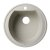 "Alfi brand Biscuit 20"" Drop-In Round Granite Composite Kitchen Prep Sink, 20"" Diameter x 8"" H"