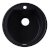 "Alfi brand Black 20"" Drop-In Round Granite Composite Kitchen Prep Sink, 20"" Diameter x 8"" H"
