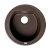"ALFI brand 20"" Drop-In Round Granite Composite Kitchen Prep Sink in Chocolate, 20-1/8"" Diameter x 8-1/4"" H"