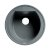 "ALFI brand 20"" Drop-In Round Granite Composite Kitchen Prep Sink in Titanium, 20-1/8"" Diameter x 8-1/4"" H"