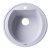 """Alfi brand White 20"""" Drop-In Round Granite Composite Kitchen Prep Sink, 20"""" Diameter x 8"""" H"""
