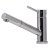 """Alfi brand Solid Polished Stainless Steel Pull Out Single Hole Kitchen Faucet, 6-1/2"""" H"""