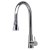 "Alfi brand Solid Polished Stainless Steel Pull Down Single Hole Kitchen Faucet, 17-1/8"" H"