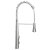 "Alfi brand Solid Stainless Steel Commercial Spring Kitchen Faucet with Pull Down Shower Spray, 23-5/8"" H"