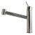 """Alfi brand Brushed Stainless Steel Kitchen Faucet /w Pull-Out Spray, 9-1/8"""" H"""
