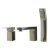 """Alfi brand Brushed Nickel Deck Mounted Tub Filler and Square Hand Held Shower Head, 6-3/4"""" W x 1-1/4"""" D x 4-3/4"""" H"""