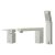 """Alfi brand Polished Chrome Deck Mounted Tub Filler and Square Hand Held Shower Head, 6-3/4"""" W x 1-1/4"""" D x 4-3/4"""" H"""