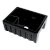 """ALFI brand 24"""" Reversible Smooth / Fluted Single Bowl Fireclay Farm Sink in Black Gloss, 24"""" W x 18-1/8"""" D x 10"""" H"""