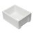"""Alfi brand 24"""" White Reversible Smooth / Fluted Single Bowl Fireclay Farm Sink, 24"""" W x 18-1/8"""" D x 10"""" H"""