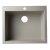 "Alfi brand Biscuit 24"" Drop-In Single Bowl Granite Composite Kitchen Sink, 23-5/8"" W x 20-1/8"" D x 8-1/4"" H"