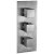 """Alfi brand Brushed Nickel Square 2 Way Thermostatic Shower Mixer, 5-5/16"""" W x 12-5/8"""" D x 3"""" H"""