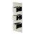 "Alfi brand Polished Chrome Square 2 Way Thermostatic Shower Mixer, 5-5/16"" W x 12-5/8"" D x 3"" H"