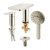 """ALFI brand Deck Mounted Tub Filler with Hand Held Showerhead in Brushed Nickel, Faucet Height: 5"""" H, Spout Reach: 4-3/4"""" D"""