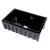"ALFI brand 30"" Reversible Smooth / Fluted Single Bowl Fireclay Farm Sink in Black Gloss, 29-7/8"" W x 18-1/8"" D x 10"" H"