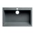 "ALFI brand 30"" Drop-In Single Bowl Granite Composite Kitchen Sink in Titanium, 29-7/8"" W x 19-7/8"" D x 8-1/4"" H"