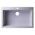 """Alfi brand White 30"""" Drop-In Single Bowl Granite Composite Kitchen Sink, 29-7/8"""" W x 19-7/8"""" D x 8-1/4"""" H"""