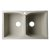 "Alfi brand Biscuit 32"" Drop-In Double Bowl Granite Composite Kitchen Sink, 31-1/8"" W x 19-11/16"" D x 9-1/4"" H"