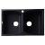 "Alfi brand Black 32"" Drop-In Double Bowl Granite Composite Kitchen Sink, 31-1/8"" W x 19-11/16"" D x 9-1/4"" H"