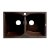 "ALFI brand 32"" Drop-In Double Bowl Granite Composite Kitchen Sink in Chocolate, 31-1/8"" W x 19-2/3"" D x 9-1/4"" H"