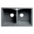 "ALFI brand 32"" Drop-In Double Bowl Granite Composite Kitchen Sink in Titanium, 31-1/8"" W x 19-2/3"" D x 9-1/4"" H"