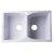 """Alfi brand White 32"""" Drop-In Double Bowl Granite Composite Kitchen Sink, 31-1/8"""" W x 19-11/16"""" D x 9-1/4"""" H"""
