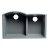 "ALFI brand 33"" Double Bowl Undermount Granite Composite Kitchen Sink in Titanium, 33"" W x 20-3/4"" D x 9-7/8"" H"