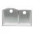 "Alfi brand White 33"" Double Bowl Undermount Granite Composite Kitchen Sink, 33"" W x 20-3/4"" D x 9-7/8"" H"