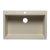 "Alfi brand Biscuit 33"" Single Bowl Drop In Granite Composite Kitchen Sink, 33"" W x 22"" D x 9-1/2"" H"